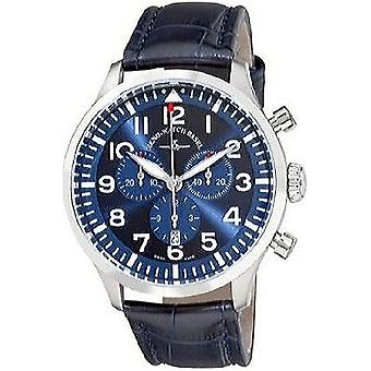 Zeno-watch montre Navigator NG bleu chronographe quartz, 6569-5030Q-a4