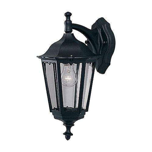 Searchlight 82531BK Alex Traditional Black Outdoor Down Over Wall Light IP44