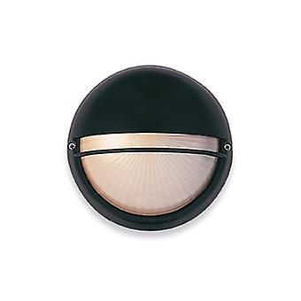 Firstlight-1 Lichtwand lamp-100W zwart, opaalglas IP44-5208BK