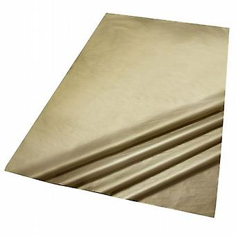 3 packs of 5 Sheets of Metallic Gold Colour Acid Free Bleed Resistant Unbuffered Tissue Paper 500 x 700