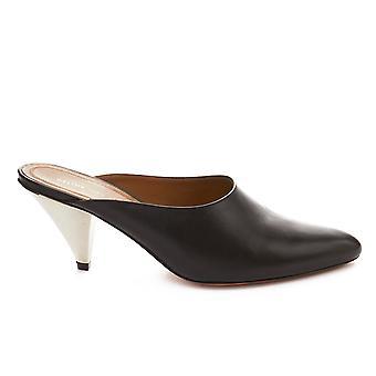 Céline Black Leather Slippers