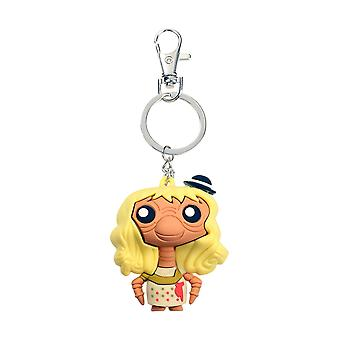 E.T. Keyring Pokis figure printed with wig, plastic, including mini-carabiner.