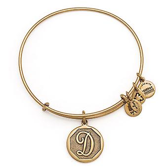 Alex en Ani Initial D Gold Bangle A13EB14DG