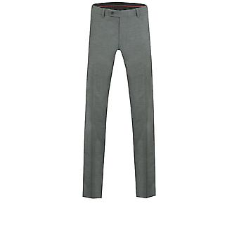 Dobell Mens Light Grey Suit Trousers Tailored Fit