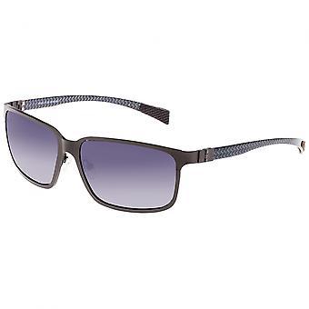 Breed Neptune Titanium and Carbon Fiber Polarized Sunglasses - Gunmetal/Black