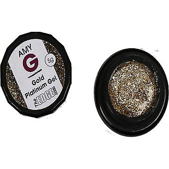 The Edge Nails Amy G - Metallic Platinum Gels - Gold 5g (3003044)