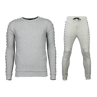 Tracksuits Basic-Braided Joggingpak-Grey