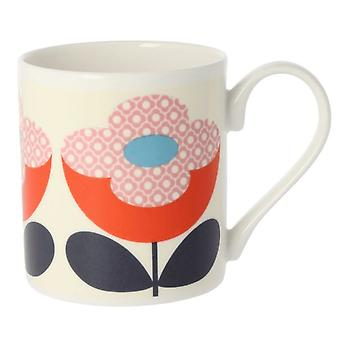 Orla Kiely Buttercup Stem Red Pink Mug