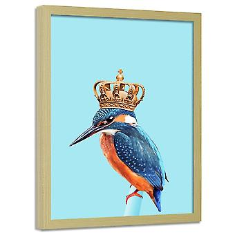 Poster In Frame, Kingfisher In Crown