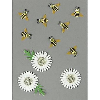 Jolee's By You Large Dimensional Embellishment Bumblebees And Daisies E5000450