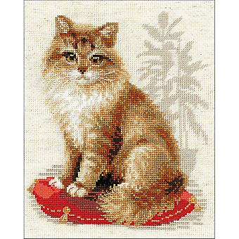 Pet Cat Counted Cross Stitch Kit-9.5