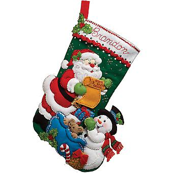 Santa's Liste Stocking Felt Applique Kit 18