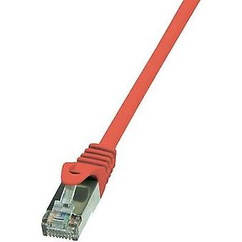 RJ49 Networks Cable CAT 5e SF/UTP 0.25 m Red incl. detent LogiLink