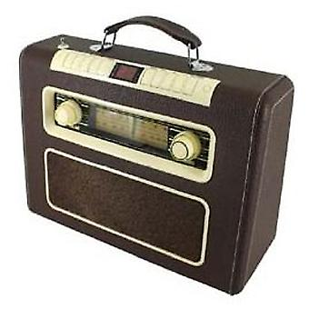 Soundmaster Radio AM / FM stereo with CD / MP3 in retro leather