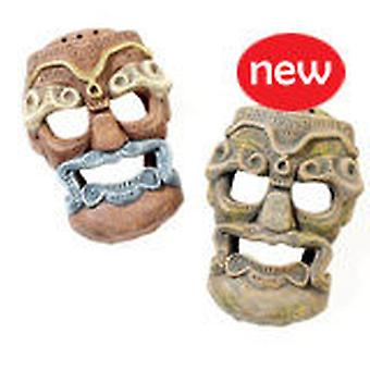 Classic For Pets Tribal Mask 150mm    2pcs (Fish , Decoration , Ornaments)