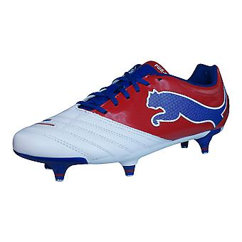Puma PowerCat 3.12 SG Mens Leather Football Boots / Cleats - White