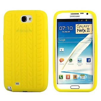 Cover with standard tire in silicone, for Samsung Galaxy Note 2 (yellow)