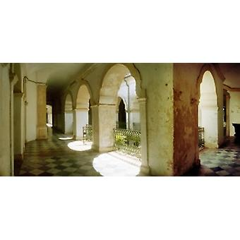 Courtyard of Igreja de Sao Francisco church in Pelourinho Salvador Bahia Brazil Poster Print