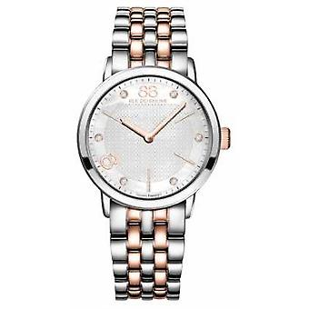 88 Rue du Rhone Double 8 Origin Ladies Two Tone Stainless Steel Rose Gold 87WA140005 Watch