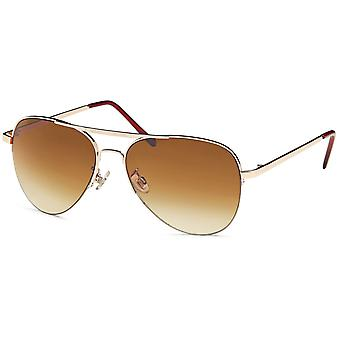 Bling metal sunglasses - pilot gold / Brown