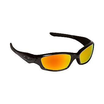 New SEEK Replacement Lenses - Oakley STRAIGHT JACKET Black Yellow Mirror