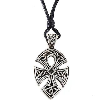 Handmade Celtic Triquetra Cross Pewter Pendant