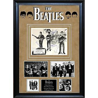 Beatles - A Hard Day's Night - Signed by 4 Photo Custom Framed with dual COA