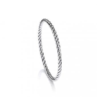 Cavendish French Sterling Silver Eternal Rope Twist Bangle