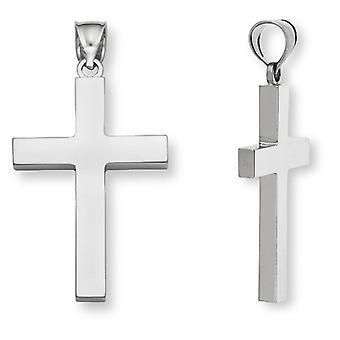 Men's Sterling Silver Plain Cross Pendant