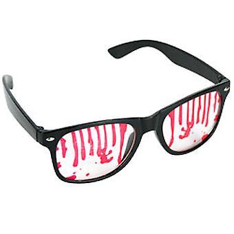Nerdbrille Halloween Blutige Brille Blutbrille