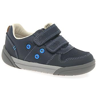 Clarks LilFolkPop Infant Boys Navy Casual Shoes