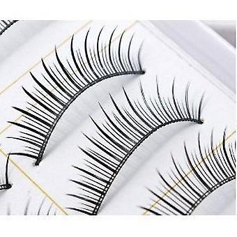 10 Pairs of Natural & Regular Long False Eyelashes Eye Lashes by Boolavard