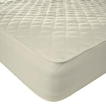 Natural Pure Cotton Percale Quilted Protector