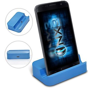 ONX3 Samsung Galaxy J7 Prime G610F Blue Micro USB Mini Portable Charging Dock Cradle Desktop Charger Station