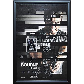 The Bourne Legacy - Cast Signed Movie Poster Wood Framed
