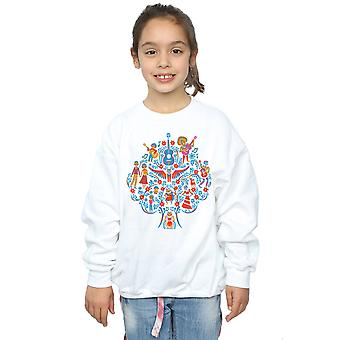 Disney Girls Coco Tree Pattern Sweatshirt