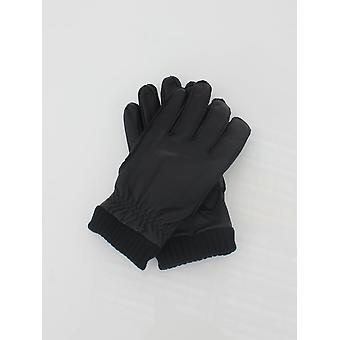 Barbour Barrow Leather Gloves - Black