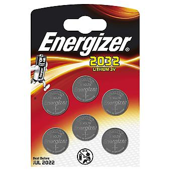 Energizer CR2032 Lithium Coin Battery - (Pack of 6)
