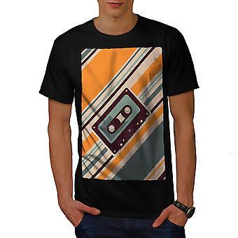Cassette Tape oude muziek mannen gekleedinzwartet-shirt | Wellcoda