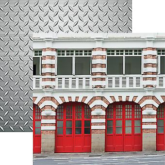 Firefighter Double-Sided Cardstock 12