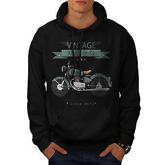 Moto vintage hommes BlackHoodie | Wellcoda