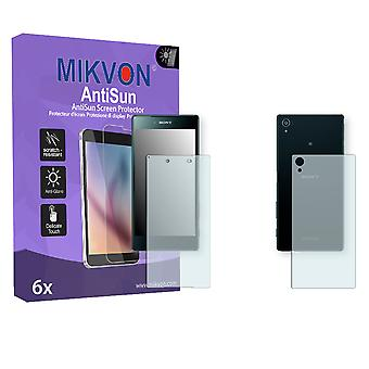 Sony Xperia Z5 Premium the front / the reverse Screen Protector - Mikvon AntiSun (Retail Package with accessories) (3x FRONT / 3x BACK)