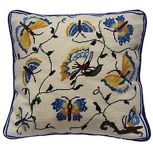 Papillons Tapisserie Kit bleu et jaune