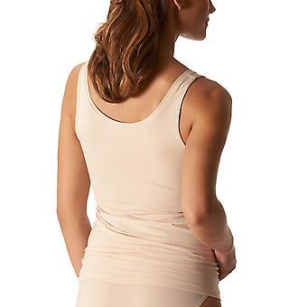 Mey 25816-703 Women's Organic Tan Solid Colour Tank Vest Top