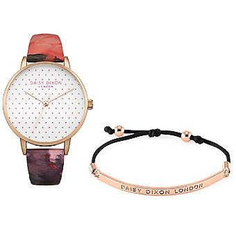 Daisy Dixon Suki Rose Gold Plated Ladies Womens Wrist Watch Free Bracelet