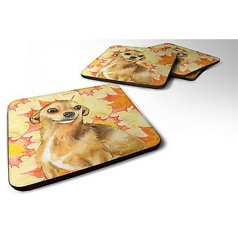 Carolines Treasures  BB9919FC Set of 4 Chihuahua Fall Foam Coasters Set of 4
