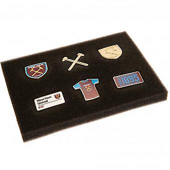 West Ham United 6 Piece Badge Set