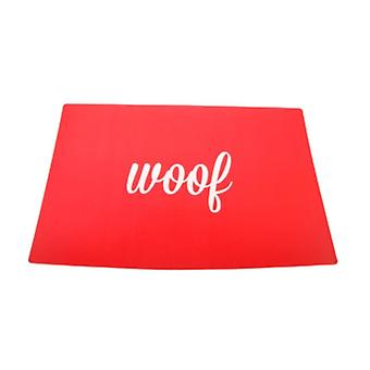 Woof Placemat Red for Dogs