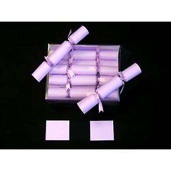 Matrimonio Cracker In lilla con Lilla nastro fissato (confezione da 10)