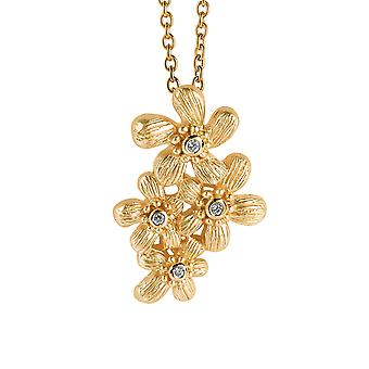 Orphelia Silver 925 Chain With Pendant Flowers Goldplated Zirconium  ZH-6026/2